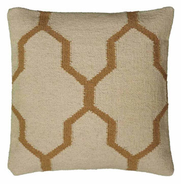 Beige Moroccan Woven Pillow