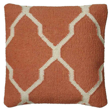 Rust Moroccan Woven Pillow