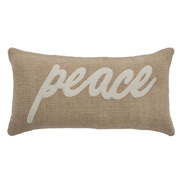 Jute Peace Pillow