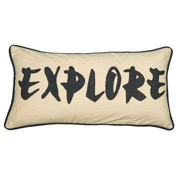 Explore Applique Pillow