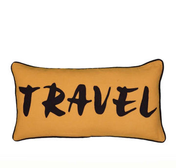 Travel Applique Pillow