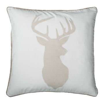 Cream and White Deer Pillow