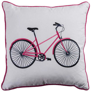 Pink Bicycle Pillow