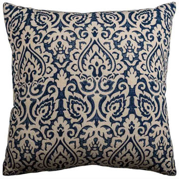 Navy Damask Pillow