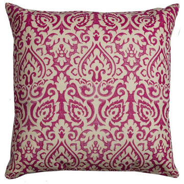 Pink Damask Pillow