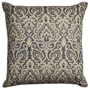 Light Gray Damask Pillow