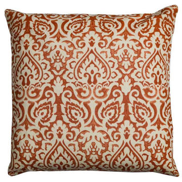 Orange Damask Pillow
