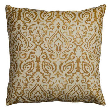 Gold Damask Pillow