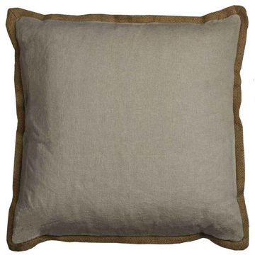 Khaki Flange Pillow