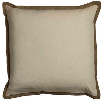 Taupe Flange Pillow