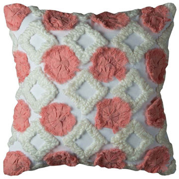 Pink Dot Ivory Diamond Pillow
