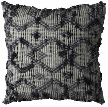 Picture of Black And Gray Chain-Link Pillow