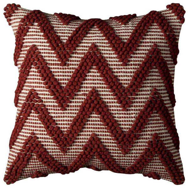 Red And White Chevron Pillow