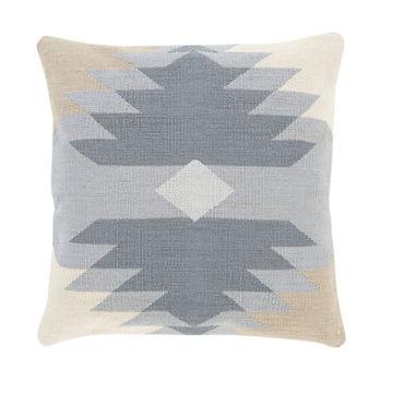 Native American Pattern Pillow - Sky