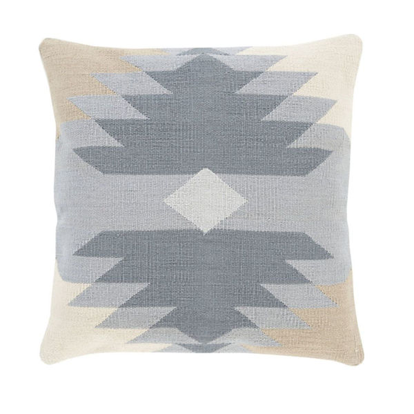 Native American Pattern Pillow - Sky