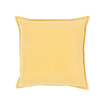 Cotton Velvet Pillow - Yellow