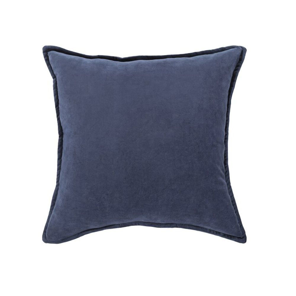 Cotton Velvet Pillow - Navy