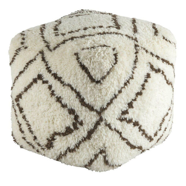 Denali Pouf - Dark Brown and Khaki