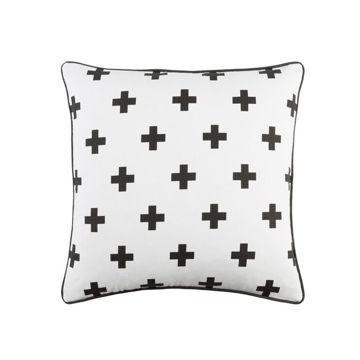 Inga Cross Pillow - White