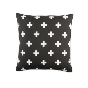 Inga Cross Pillow - Black