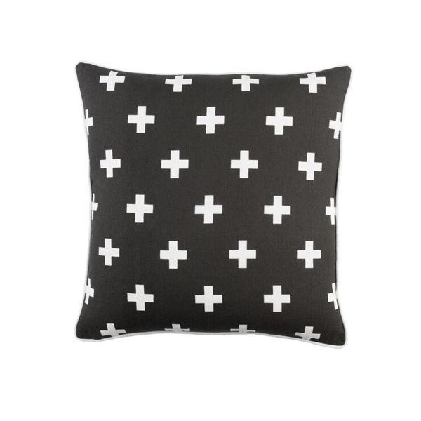 Inga Cross Pillow - Black