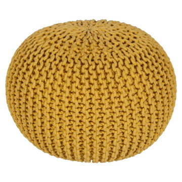 MALMO POUF - BRIGHT YELLOW