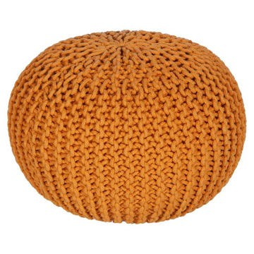 Malmo Pouf - Bright Orange