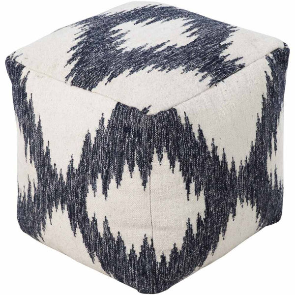 FRONTIER POUF - KHAKI AND NAVY
