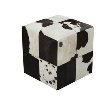 Appalachian Pouf - Black And Cream