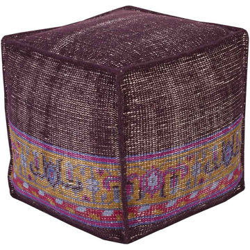 Zahra Pouf - Dark Purple