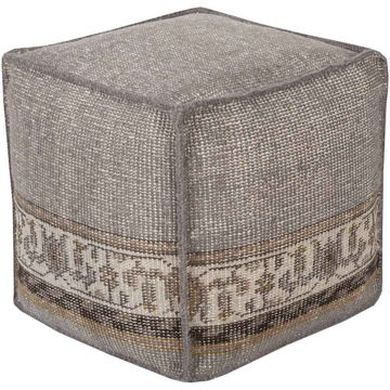 Zahra Pouf - Medium Gray