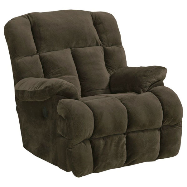 Picture of Clara Power Lay Flat Recliner - Chocolate