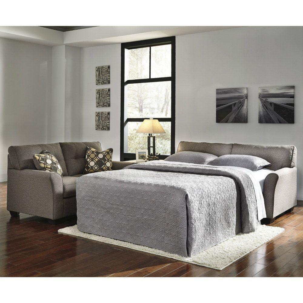 Carina Full Sleeper Sofa - Slate - Lifestyle