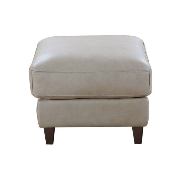 Picture of Trieste Leather Ottoman - Sand