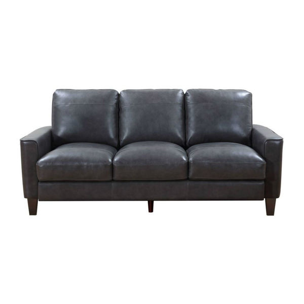 Picture of Trieste Leather Sofa - Gray