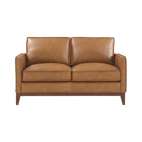 Picture of Novara Leather Loveseat - Camel
