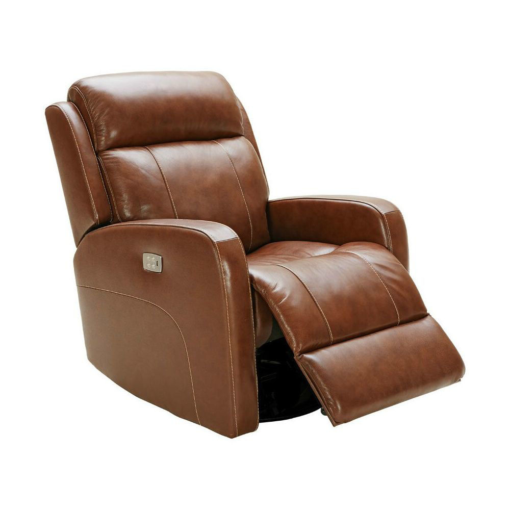 Vail Power Reclining Swivel Glider - Brown - Open