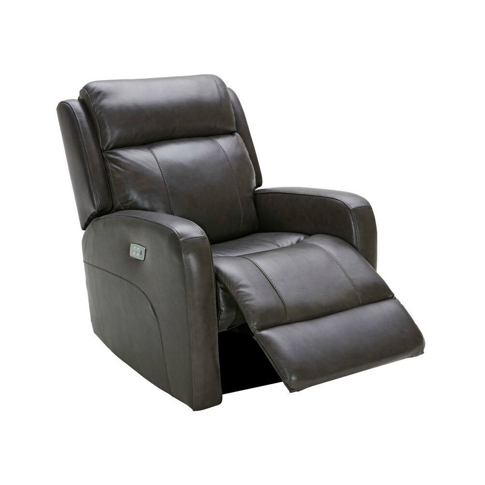 Vail Power Reclining Swivel Glider - Charcoal - Open