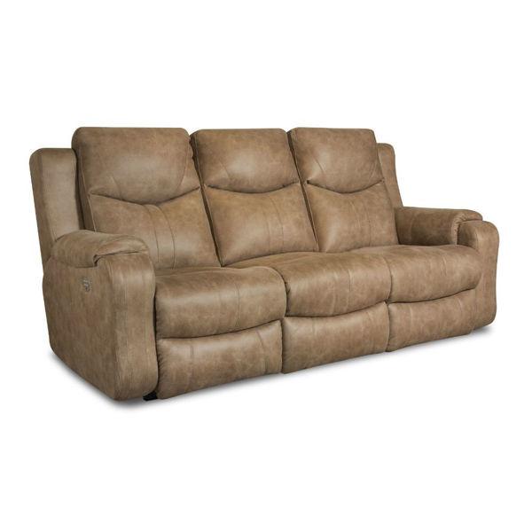 Marvel Power Reclining Sofa - Saddle