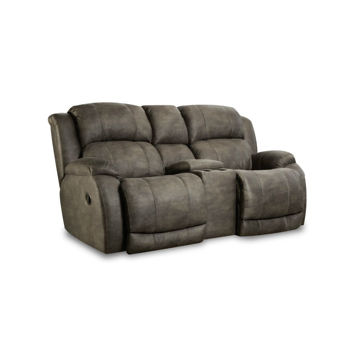 Picture of Burro Reclining Console Loveseat - Cognac