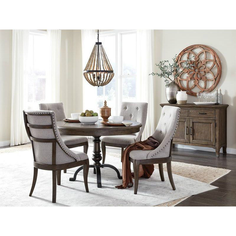 Roxbury Manor 5 Piece Round Dining Set, Round Dining Table Set For 5 Chairs