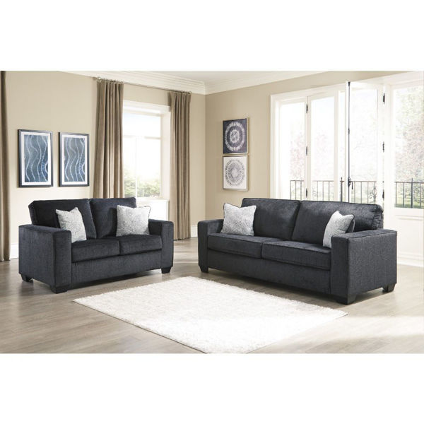 Picture of Joshua Sofa and Loveseat - Slate