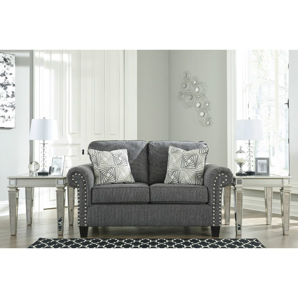 Zeke Loveseat - Charcoal - Lifestyle