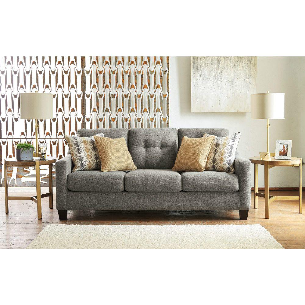 Zuri Queen Sleeper Sofa - Graphite - Front