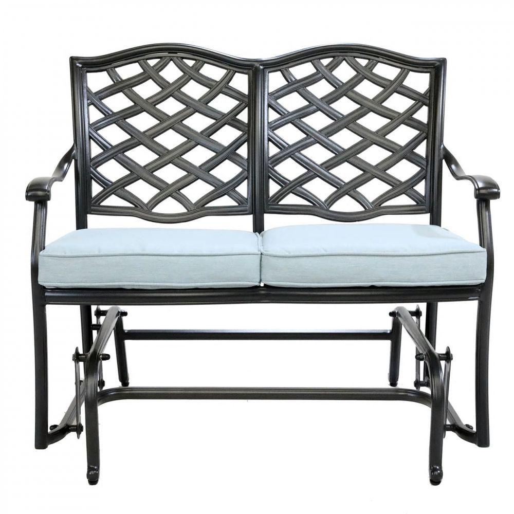 Halsey Bench Glider with Cushion - Front