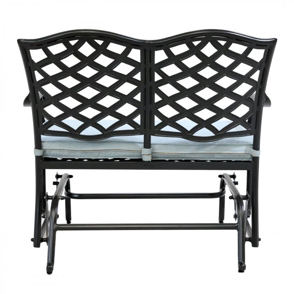 Halsey Bench Glider with Cushion - Back