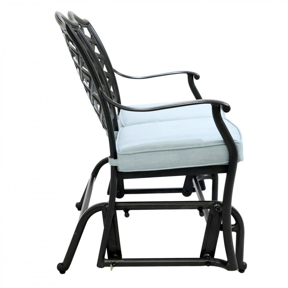 Halsey Bench Glider with Cushion - Side
