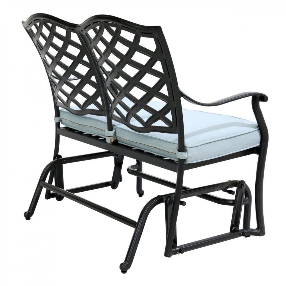 Halsey Bench Glider with Cushion - Back Angle