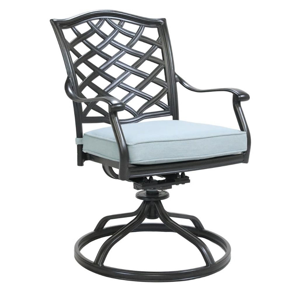 Halsey Swivel Rocker with Cushion - Back Angle