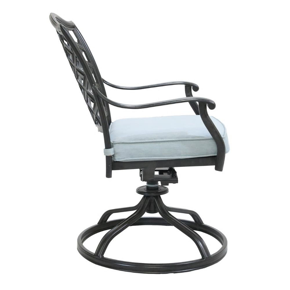 Halsey Swivel Rocker with Cushion - Side
